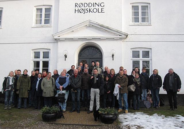 Deltagerne ved Landsbypuljemødet 2010 på Rødding Højskole.